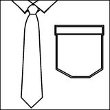Figure elegant shirt with tie icon. Illustration design Royalty Free Stock Images