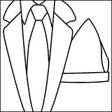 Figure elegant suit with tie icon Royalty Free Stock Photography