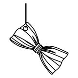 Figure elegant tie bow hanging icon. Illustration design Stock Photography