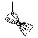Figure elegant tie bow hanging icon Stock Photography
