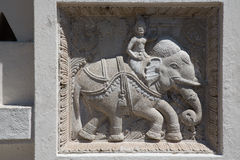 Figure of an elephant. Temple Stock Photography