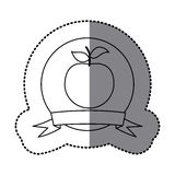Figure emblem apple fruit icon. Illustraction design Royalty Free Stock Photo
