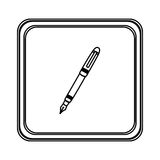 Figure emblem ballpoint icon. Illustraction design image Stock Photo