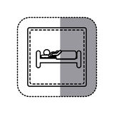 Figure emblem bed and person sleeping. Illustraction design image Royalty Free Stock Images