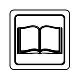 Figure emblem book open icon Stock Photos