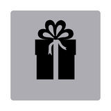 Figure emblem box with bow ribbon icon. Illustraction design Stock Image