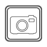 Figure emblem camera icon. Illustraction design image Royalty Free Stock Image