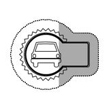 Figure emblem car front icon. Illustration design Royalty Free Stock Photos
