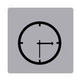 Figure emblem clock icon Royalty Free Stock Photography