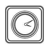 Figure emblem clock icon Royalty Free Stock Image
