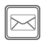 Figure emblem close message envelope icon. Illustraction design Stock Photography