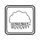Figure emblem cloud rainning icon. Illustraction design image Stock Photography