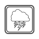 Figure emblem cloud ray icon Royalty Free Stock Images