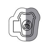 Figure emblem coffee espresso icon. Illustraction design Royalty Free Stock Image