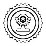 Figure emblem computer camera icon. Illustration design Stock Image