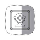 Figure emblem computer camera icon. Illustration design Stock Photography