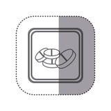 Figure emblem drugs medications. Illustration design Stock Image