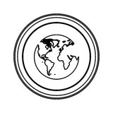 Figure emblem earth planet icon. Illustraction design Royalty Free Stock Image