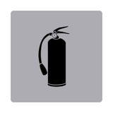 Figure emblem extinguisher icon. Illustraction design Stock Images