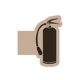 Figure emblem extinguisher icon. Illustraction design Stock Image