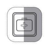Figure emblem first aid kit. Illustration design Royalty Free Stock Image