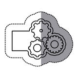 Figure emblem gears icon. Illustraction design image Royalty Free Stock Photography