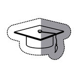 Figure emblem graduation hat icon. Illustraction design image Stock Photos