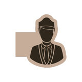 Figure emblem guard person icon Royalty Free Stock Photography