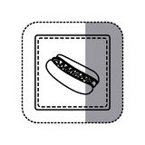 Figure emblem hot dog icon. Illustraction design image Stock Photo