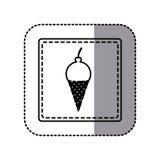 Figure emblem ice cream icon. Illustraction design Royalty Free Stock Photo