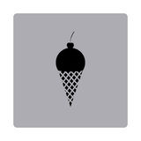 Figure emblem ice cream icon Royalty Free Stock Photo