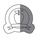 Figure emblem long apple fruit icon. Illustraction design Stock Photography