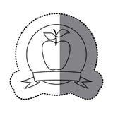Figure emblem long apple fruit icon Stock Photography