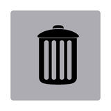 Figure emblem metal trash can icon. Illustraction design Stock Photos