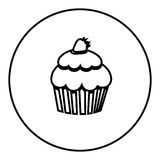 Figure emblem muffin icon. Illustraction design image Stock Image