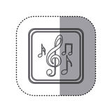 figure emblem musical notes Stock Images