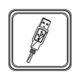 Figure emblem pendrive icon Stock Photos