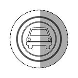 Figure emblem round front car icon. Illustration design Stock Photos