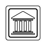 Figure emblem shape bank icon Royalty Free Stock Photography
