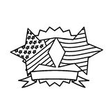 Figure emblem and stars independence day icon. Illustraction design Stock Image