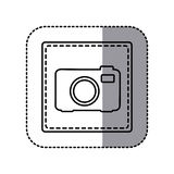 Figure emblem sticker camera icon. Illustraction design Royalty Free Stock Photo