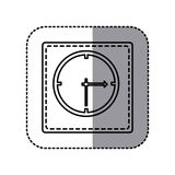 Figure emblem sticker clock icon Royalty Free Stock Images