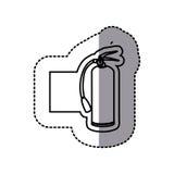 Figure emblem sticker extinguisher icon. Illustraction design Stock Photos