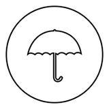 Figure emblem sticker umbrella icon Royalty Free Stock Photos