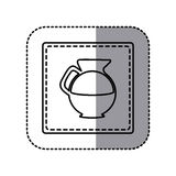 Figure emblem sticker water pitcher icon. Illustraction design Royalty Free Stock Image
