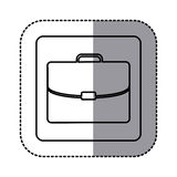 Figure emblem suitcase icon. Illustraction design Stock Photography