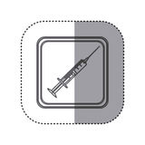 Figure emblem syringe icon Royalty Free Stock Photos