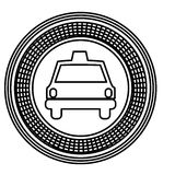 Figure emblem taxi front car icon. Illustration design Stock Images
