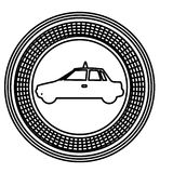 Figure emblem taxi side car icon. Illustration design Royalty Free Stock Photo