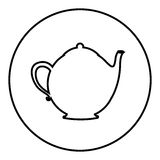 Figure emblem teapot icon Royalty Free Stock Images